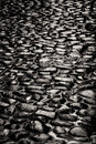 Old stone pavement pattern in black and white Stock Photos