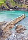 Old stone pier in Port Isaac, Cornw Stock Photo