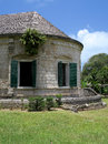Old Stone Plantation Building in Tropical Setting Royalty Free Stock Photo