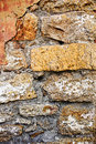 Old stone rough wall background close up Royalty Free Stock Images