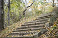 Old stone stairway in the fall czech republic Stock Image