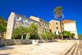 Old stone street in town of vis dalmatia croatia Stock Photography