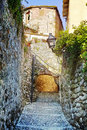 Old stone village medieval spain Royalty Free Stock Images