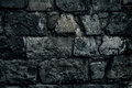 Old stone wall background, brick wall grunge texture close up Royalty Free Stock Photo