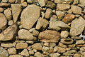 Old stone wall in fionnphort isle of mull scotland uk Stock Photos