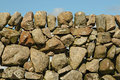 Old stone wall in fionnphort isle of mull scotland uk Royalty Free Stock Images