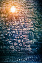 Old stone wall with lantern background concept Royalty Free Stock Photography