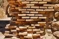 Old stone wall of Santa Barbara castle in Alicante, Valencia pro Royalty Free Stock Photo