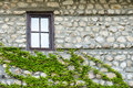 Old stone wall and window melnik bulgaria is a town in blagoevgrad province southwestern in the southwestern pirin mountains is Royalty Free Stock Photography