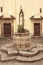 Old stone well in the courtyard of gancia convent palermo sicily Stock Photos