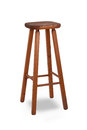 Old stool on white background Royalty Free Stock Image