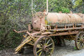 Old stove oil wagon deteriorating Stock Photography