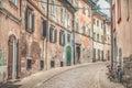 Old street alley in Ljubljana Royalty Free Stock Photo