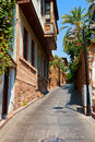Old street in antalya turkey architecture background Royalty Free Stock Photos