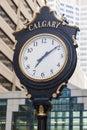 Old street clock in Calgary Royalty Free Stock Photo