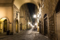 Old street in florence italy Royalty Free Stock Photo