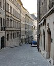 Old street in geneva switzerland the city of Stock Photography