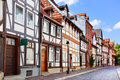Old street in Hildesheim Stock Photography