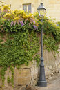 Old street lamp . Chinon. France Royalty Free Stock Photo