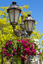 Old street lamp in the old town Royalty Free Stock Image