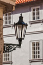 Old street lamp in prague street czech republic Royalty Free Stock Photos