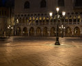 Old street lamp at st marks square in venice Royalty Free Stock Photos