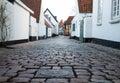 Old Street in Ribe, Denmark Royalty Free Stock Photo