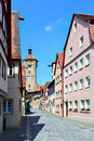 Old street in rothenburg ob der tauber germany Stock Photography