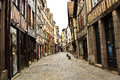 Old street in the Rouen Royalty Free Stock Photo