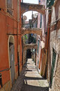 Old street-stairs in San Remo, Italy Royalty Free Stock Photo