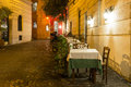Old street in trastevere in rome italy Stock Images
