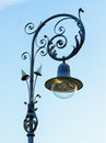 Old streetlamp beautiful in front of blue sky Stock Images