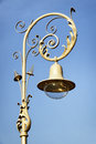 Old streetlamp beautiful in front of blue sky Royalty Free Stock Image