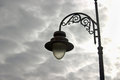 Old streetlamp over dark sunset sky Royalty Free Stock Photos