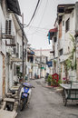 Old streets and architecture of Georgetown, Penang,  Malaysia Royalty Free Stock Photo