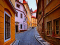 Old streets in the city of prague Stock Photos
