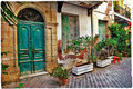 Old streets of Greece, Crete Royalty Free Stock Image