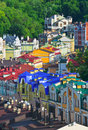 Old streets of kiev vozdvizhenska and honcharna street capital ukraine kyiv city Royalty Free Stock Photos