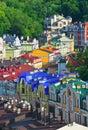 Old streets of kiev vozdvizhenska and honcharna street capital ukraine kyiv city Royalty Free Stock Photos