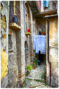 Old streets of medieval villages charming italy Stock Photos