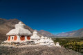 Old stupa on the hill in Leh, Ladakh of India Royalty Free Stock Photo