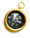 Old style brass compass Royalty Free Stock Photo