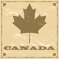 Old style Canada maple leaf Stock Photos