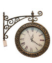 Old style clock Stock Images