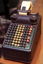 Old style desk vintage calculator Royalty Free Stock Photo