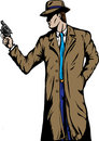 Old style Detective, such as from the fifties. Royalty Free Stock Photo