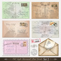 Old style distressed postcards (set 2) Royalty Free Stock Photography