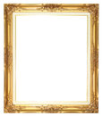 Old style goldern wood frame Royalty Free Stock Photo