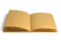 Old style recycle brown notebook  on white Royalty Free Stock Image