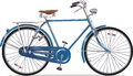 Old style retro bicycle the blue classic this is the great example of an bikes editable vector eps v Royalty Free Stock Photos